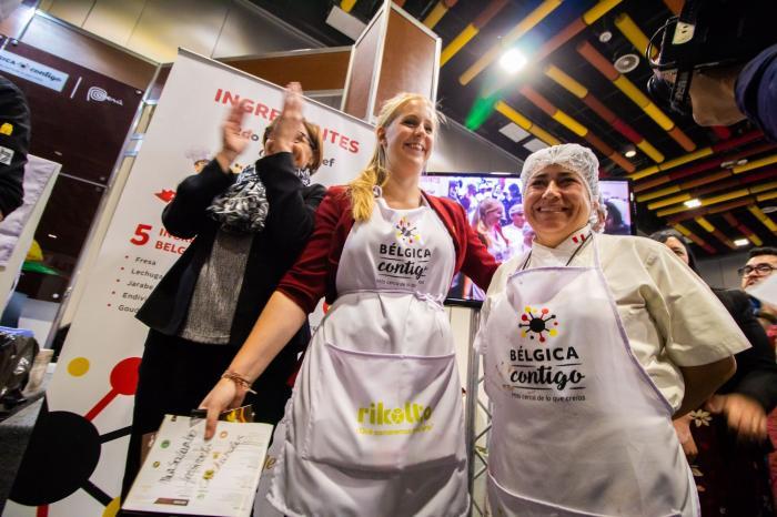 Een vriendschappelijke Peru-België op het chocoladesalon in Lima