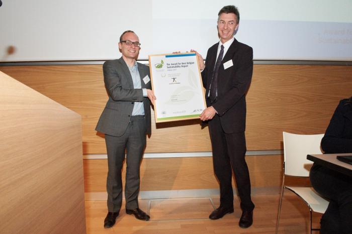 Vredeseilanden finalist bij Award for Best Belgian Sustainability Report