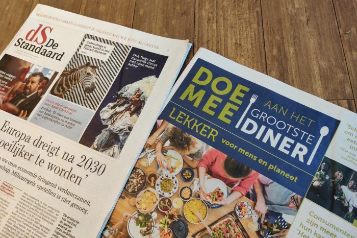 Lezers De Standaard ontdekken de Grootste Diner-bijlage