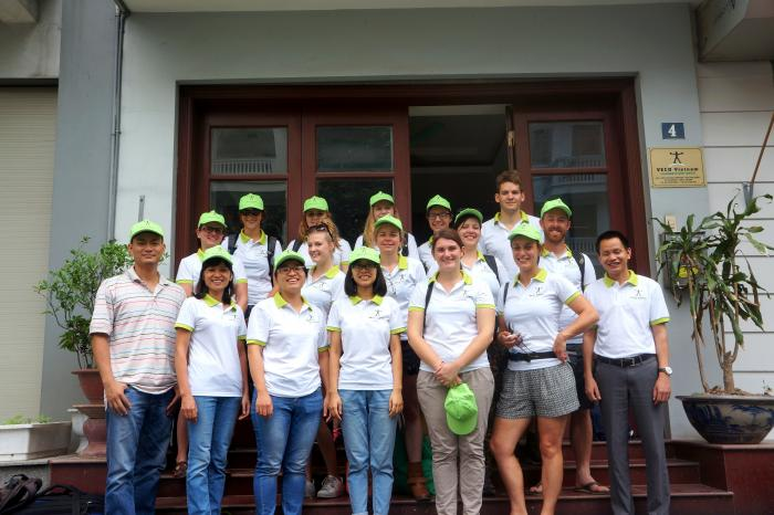 Belgian students and teachers visit Vietnam to learn about organic vegetables