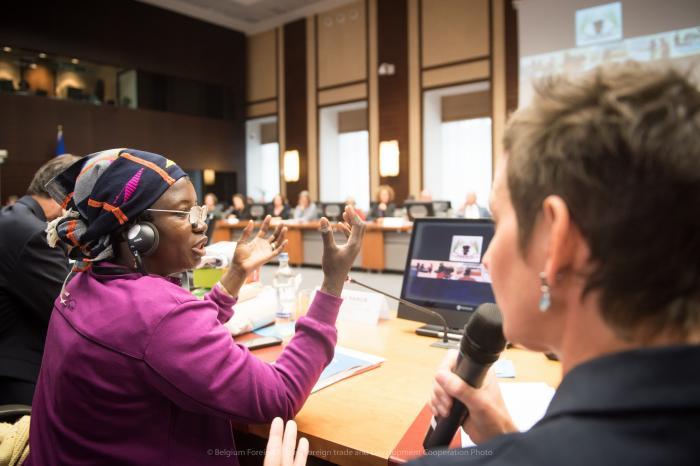 Salimata SANON, ambassadrice des agricultrices et agriculteurs familiaux auprès de la coopération belge au développement