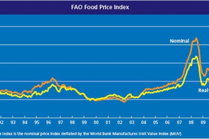 On whom do the high food prices put a strain?