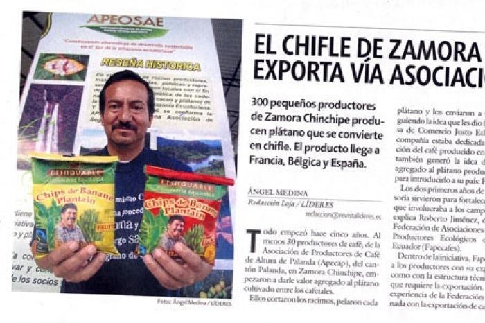 Ecuadoriaanse boerenorganisatie exporteert bananenchips