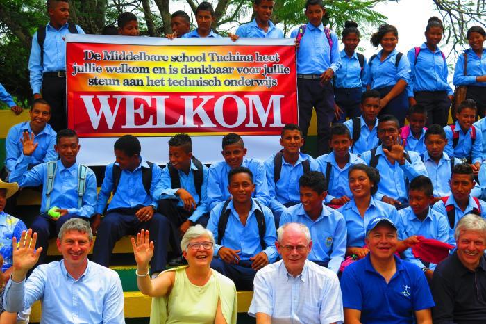 Herman Van Rompuy visita nuestro proyecto de educación técnica en Ecuador