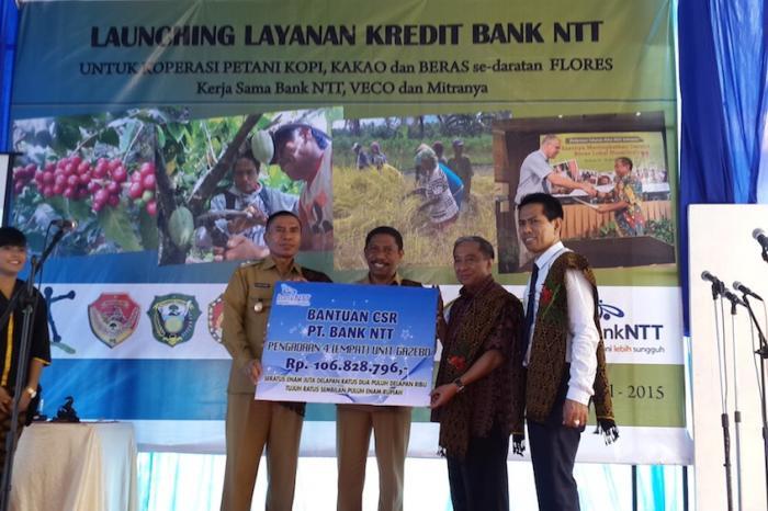 Peluncuran Kredit Bank NTT untuk Petani Flores