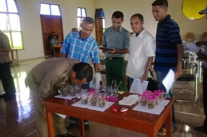 Cupping Test Training for Coffee Farmers