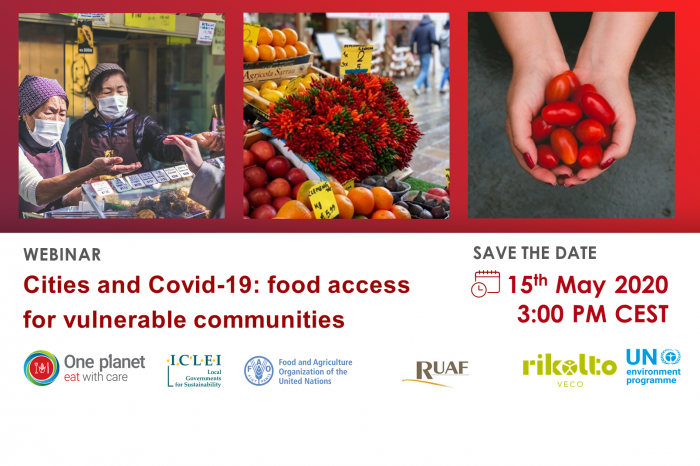 Webinar on Cities and Covid-19: Food access for vulnerable communities