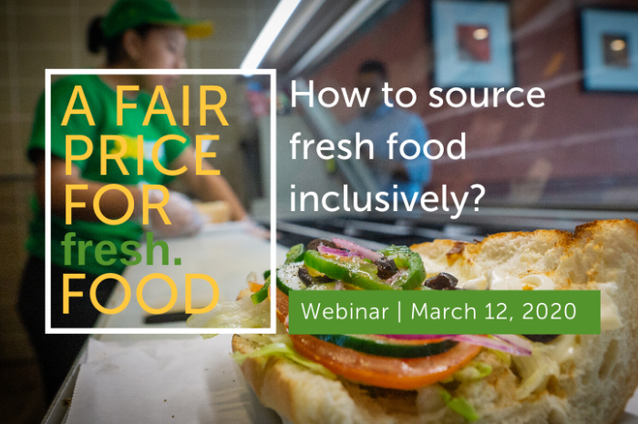 Join our webinar on March 12: A fair price for fresh food
