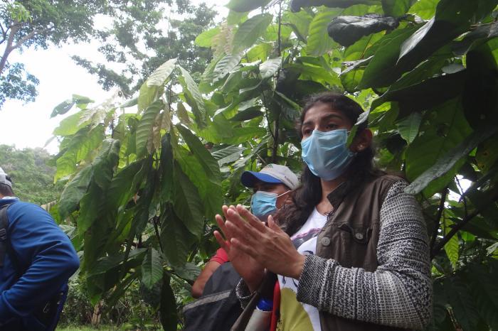 Yamileth, una joven tenaz, irradiando cambios en el cacao en Nicaragua
