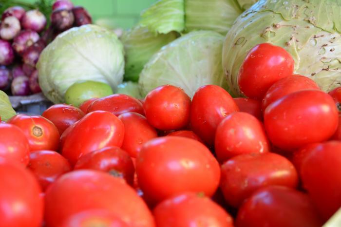 Groenten in Intibuca, Honduras