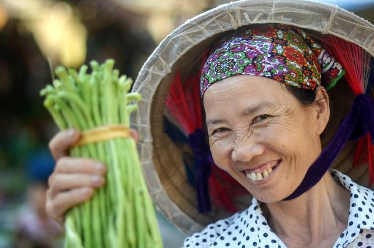 Biologische groenten in Vietnam