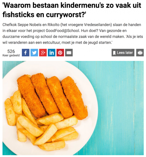 'Waarom bestaan kindermenu's zo vaak uit fishsticks en curryworst?'