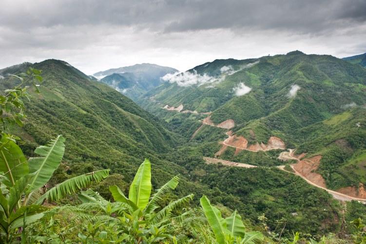 Una vista del valle donde APECAP cultiva sus parcelas.