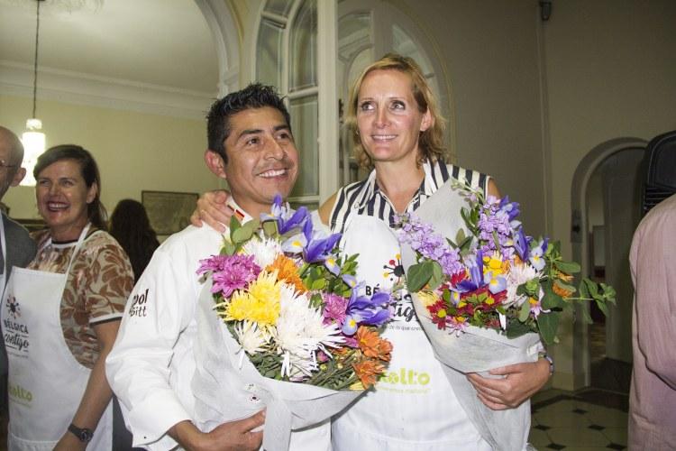 Chef Juan Carlos López and Sofie Dumont