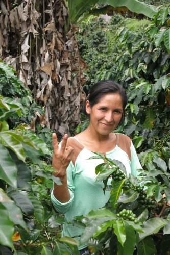Erlinda, agricultora de café orgánico en CAC Pangoa