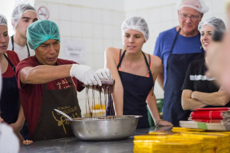 Chocolate making at Cooperative CAC Pangoa in Central Amazon
