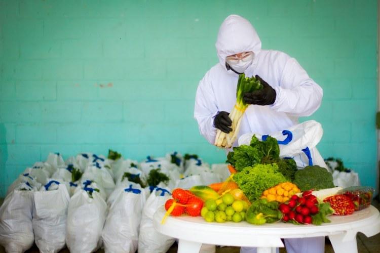 Voedselbedeling in Ecuador