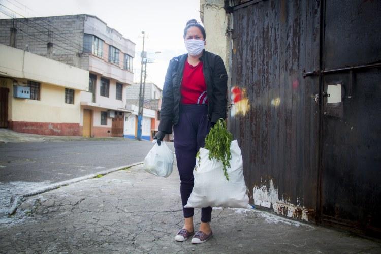 voedselmanden voor de inwoners van Quito