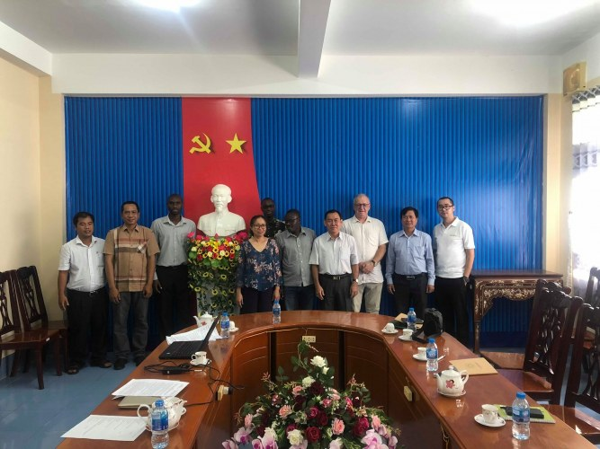 rice cluster meeting in Mekong delta