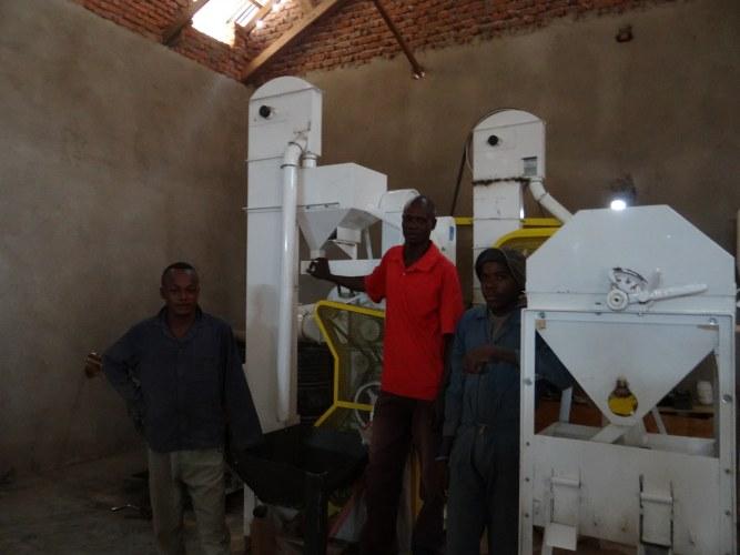 Performante machine om rijst te pellen en sorteren